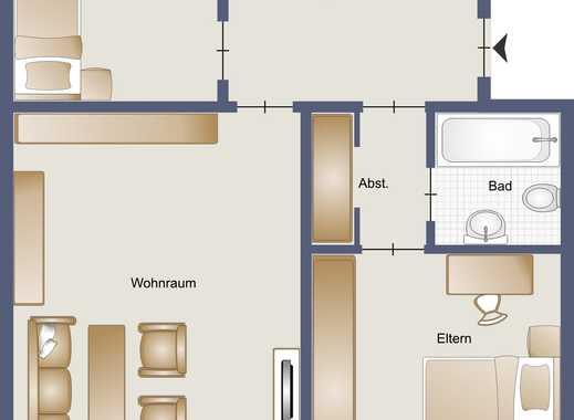 Ansprechende 3-Zimmer-Wohnung mit Balkon und Einbauküche in Oberhausen