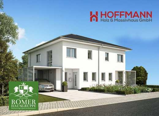 "nach Abriss: 2xDHH+1EFH: ""Römer"", ab 120m2 Wfl, incl. top Grundstück  Einzug in 9 Monate"