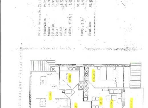 Gepflegte 3-Zimmer-Dachgeschosswohnung mit großem Balkon und Einbauküche in Nördlingen