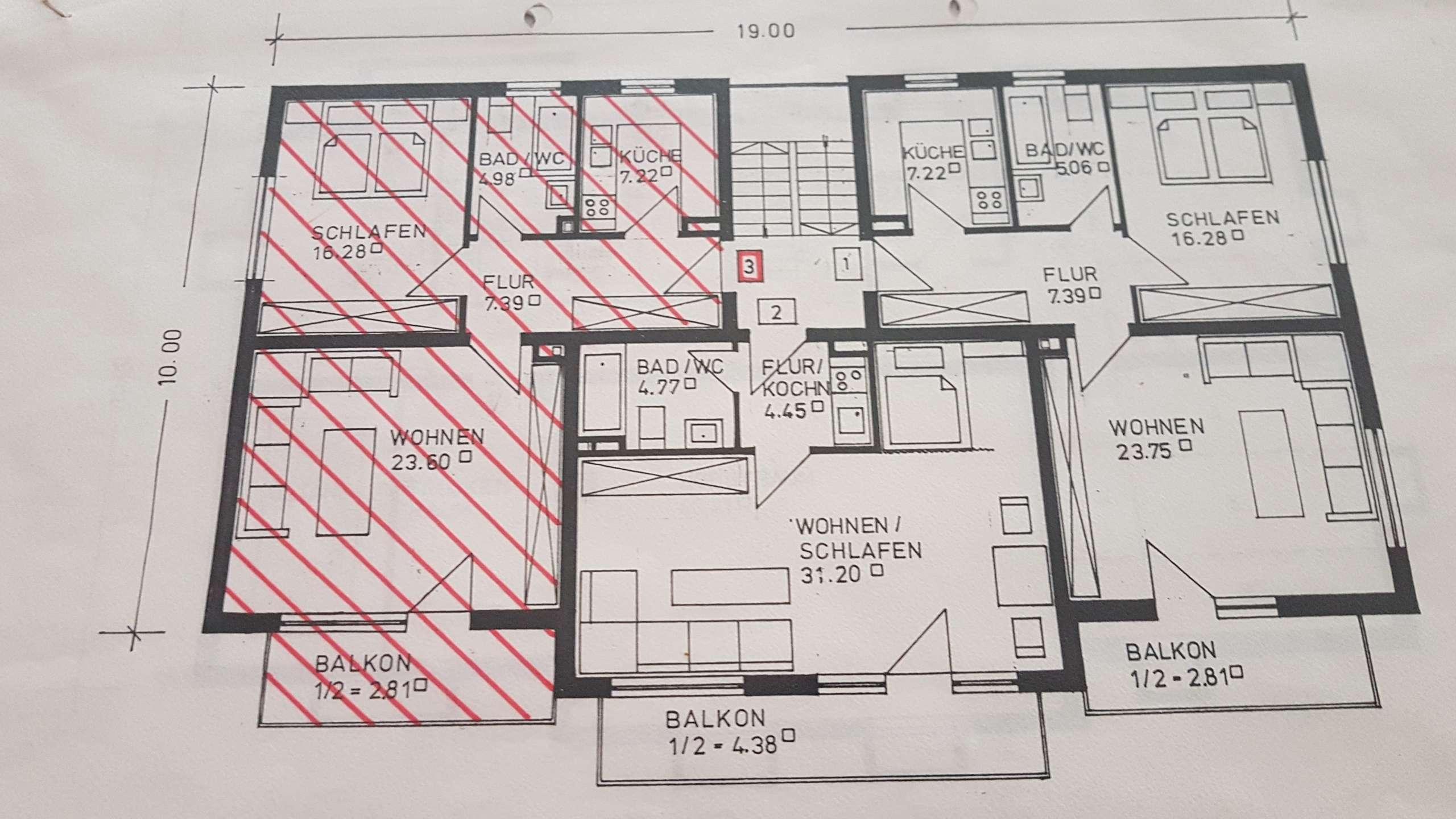 Gepflegte 2,0-Zimmer-Erdgeschosswohnung mit Balkon und EBK in Kochel am See