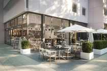 Terrassen-Gastronomiefläche in der Ludwigstraße