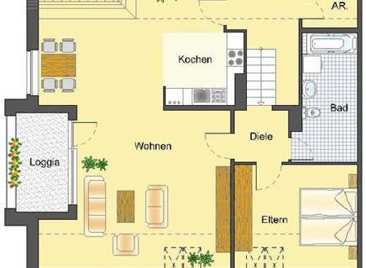 Großzügige 3-Raum-Wohnung über zwei Ebenen!