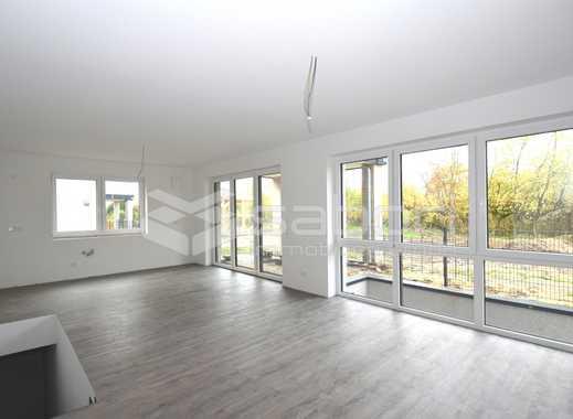 Endreihenhausfeeling! KfW 55 Erdgeschosswohnung mit ca. 135 m² mit eigenem Gartenanteil
