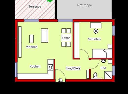 Erstbezug: Schönes Appartement mit Parkett, Einbauküche und Terrasse (R5)