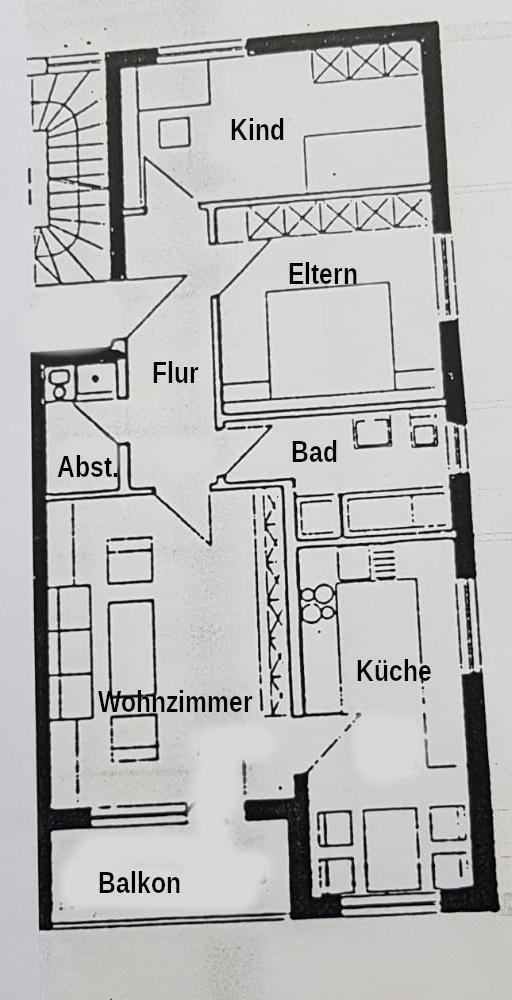 Gepflegte 3 Zimmerwohnung in Stadtnähe in