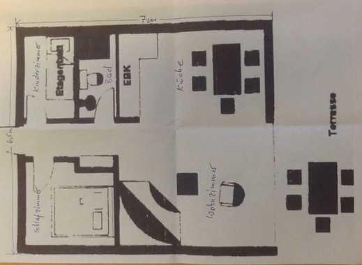 Bungalow bzw. gepflegte 2,5-Zimmer-Terrassenwohnung in Rostock-Diedrichshagen