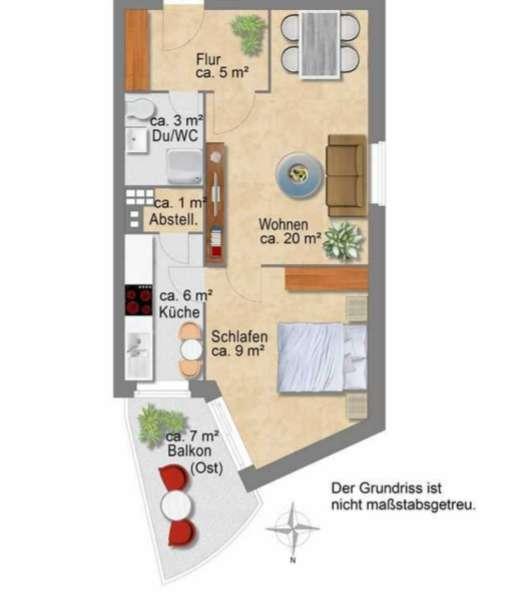 Stilvolle 1,5-Zimmer-Wohnung in Wandsbek, Hamburg