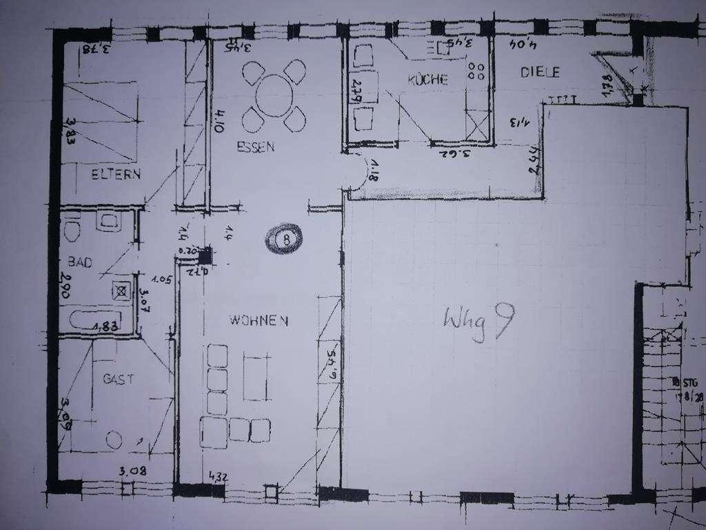 Gepflegte 4-Zimmer-Wohnung mit EBK in Lohr am Main in Lohr am Main