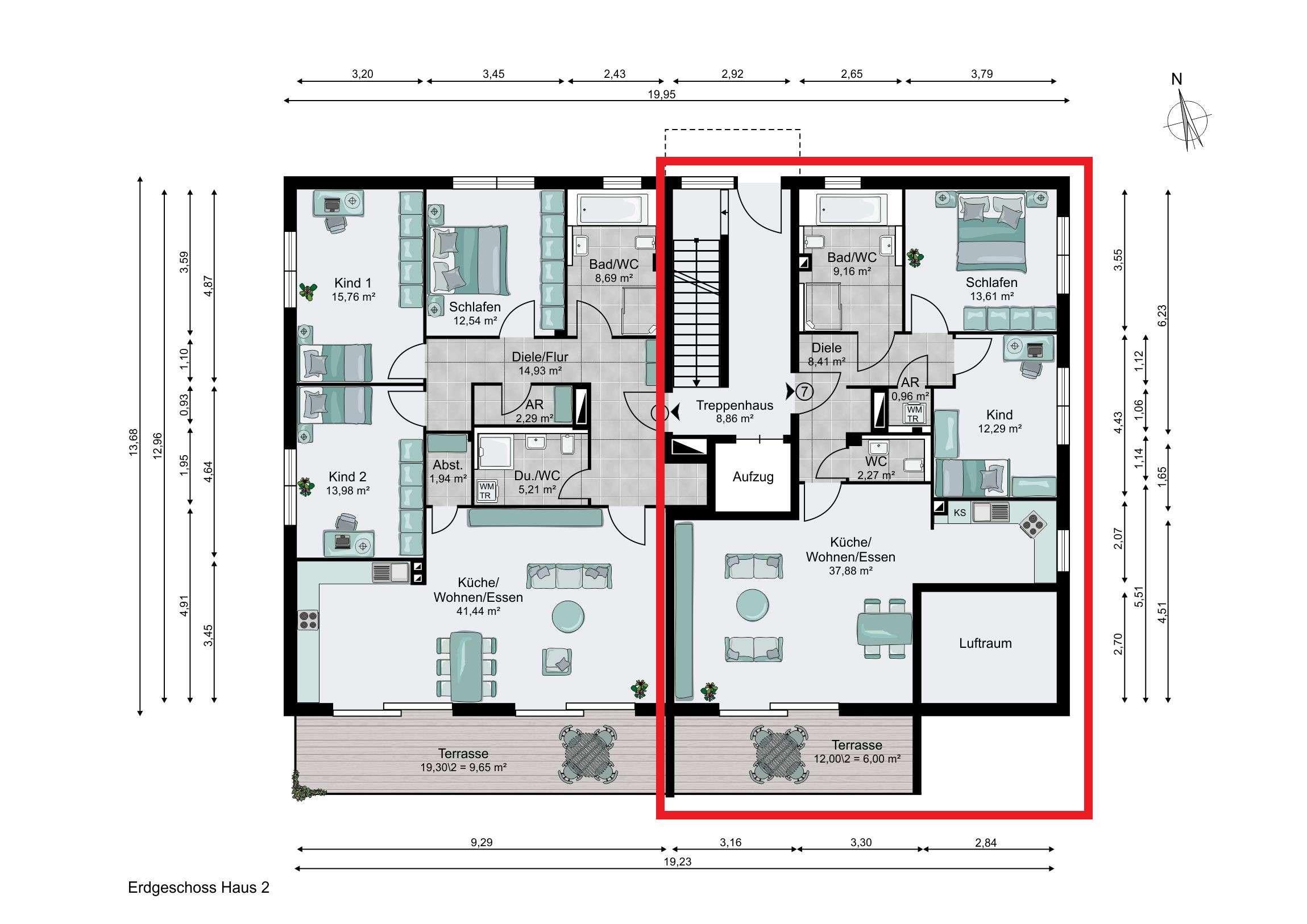 helle 3-Zimmer-Wohnung mit eigenem Gartenanteil in Bogenhausen (München)