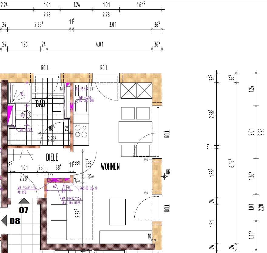 Provisionsfrei - Neuwertige 1-Zimmer-Wohnung mit Einbauküche in Augsburg