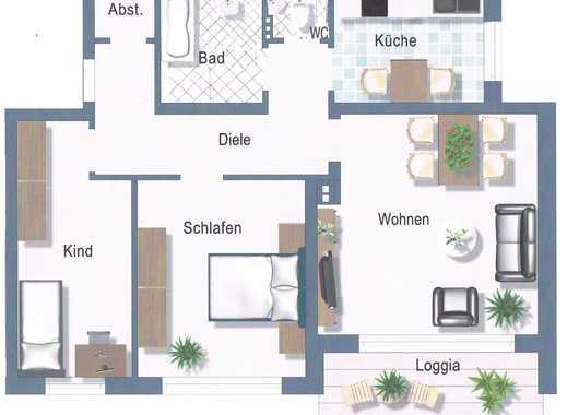Zentral gelegene 3-Zimmer-Wohnung mit Balkon in Neuburg
