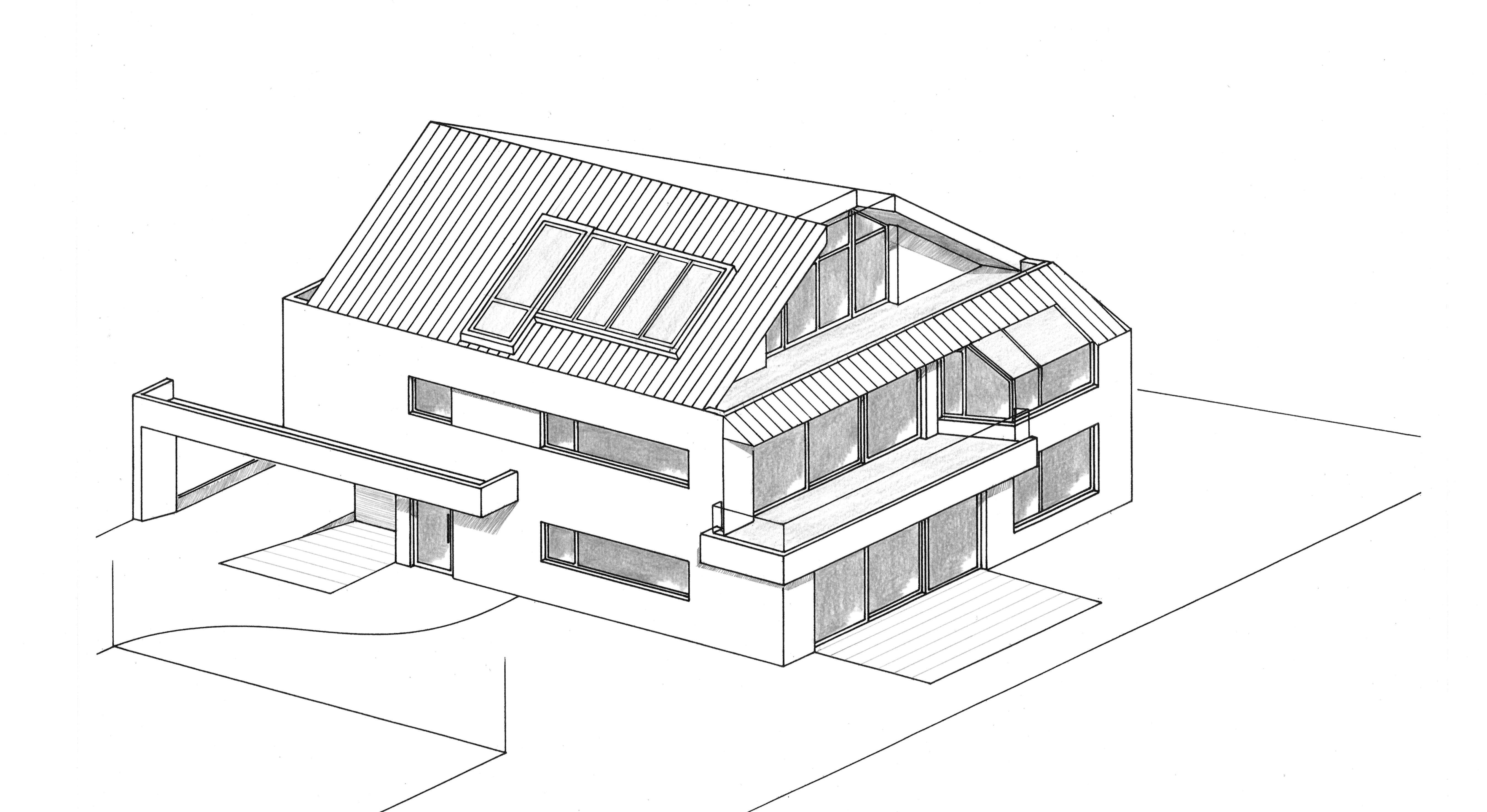 Elegante Terrassenwohnung + Architektur mit Charakter