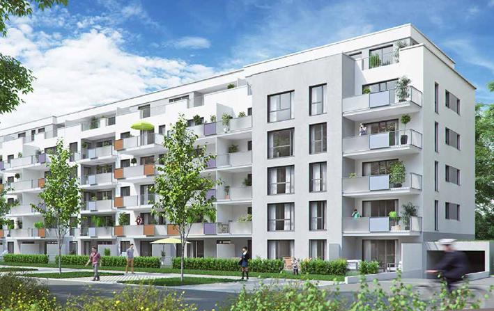 Erstbezug mit Einbauküche und Balkon: exklusive 2-Zimmer-Wohnung in Fürth in Südstadt (Fürth)