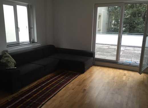 Exklusive, geräumige 2-Zimmer-Loft-Wohnung mit 20qm Dachterrasse in Westend-Süd
