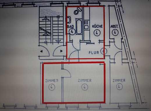 Zwei Zimmer in 2er WG - Wohnung überwiegend zur alleinigen Nutzung