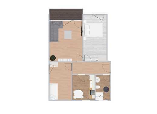 Gut geschnittene und umfangreich renovierte 3-Zimmer-Wohnung