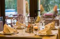 Elegant eingerichtet Restaurant mit gehobener