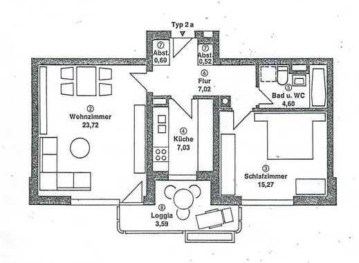 Ruhige 2-Zimmer-Wohnung mit Aussicht und Südbalkon in Königswiesen