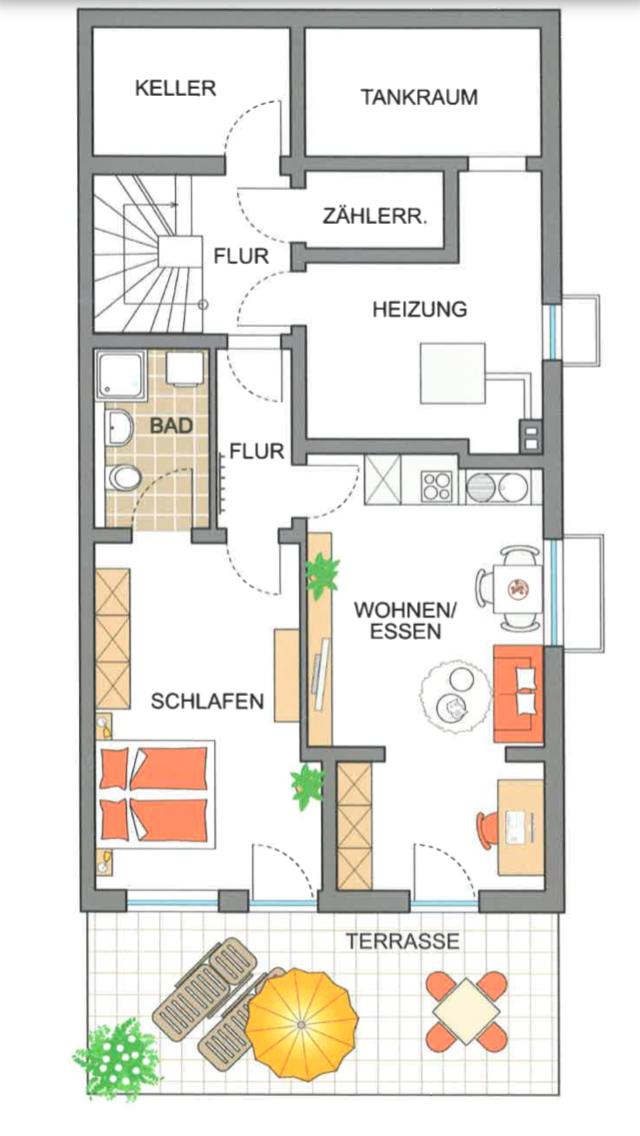 Exklusive 2,5-Zimmer-Terrassenwohnung mit Balkon und EBK in Eching