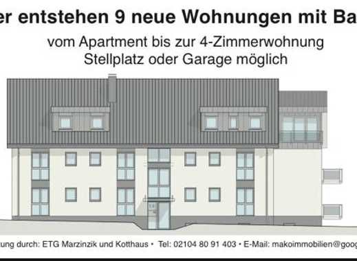 Neubau: Nur noch 4 Wohnungen frei!! z.B. Freundliche 3-Zimmer -KDB-Wohnung in Mettmann (Kreis)