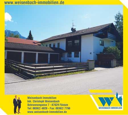 3-Zimmer-Erdgeschosswohnung mit Südterrasse im Dorf der Königsschlösser in Schwangau