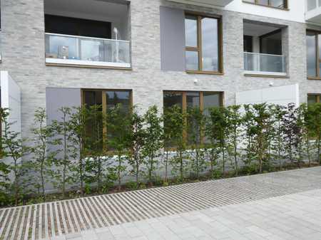 Neubau: ruhige, geräumige 2-Zimmer-EG-Wohnung mit EBK und großer SW-Terrasse in Obermenzing (München)