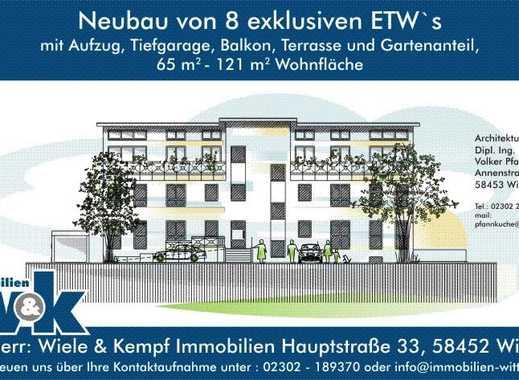 Witten Heven: Neubau-Erdgeschoss-Wohnung zu verkaufen, Terrasse und Gartenanteil