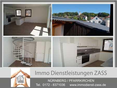 Sanierte Maisonette Wohnung mit Einbauküche und Dachterrasse / Stadtmitte   in Pfarrkirchen
