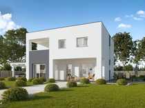 Exklusive E55-Bauhaus-Villa mit Grundstück in