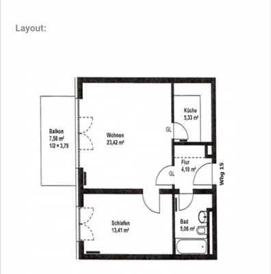 Sonnige 2 Zimmer Wohnung in U-Bahn Nähe! in Sendling-Westpark (München)