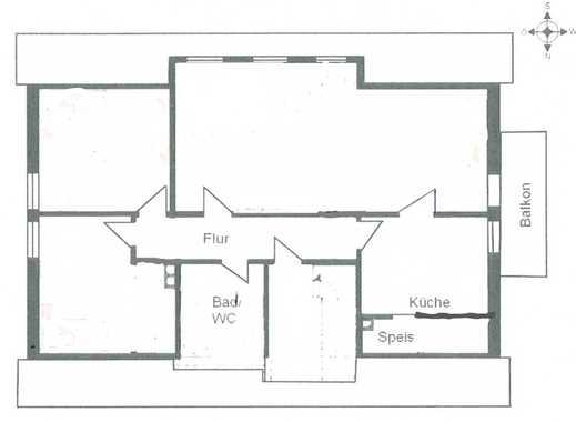 Großzügige Dachwohnung ca. 90 m² in Unsleben Ab dem 01.07.2019