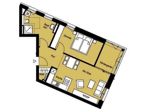 Hofterrassen - Norderstedt - 2-Zimmer-Neubau-ETW Whg. 15