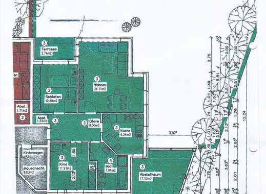 Helle, gepflegte 3-Zimmer-EG-Wohnung mit Terrasse  und EBK in Lindhorst