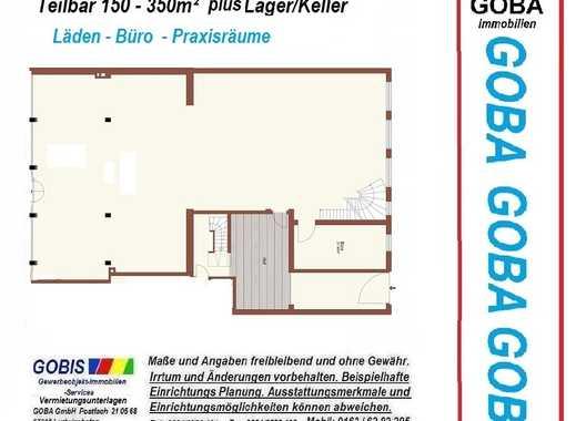 Lu Büro-Praxisräume/Laden- ca.300 m² teilbar/erw. moderne Ausstattung nahe Berliner Platz