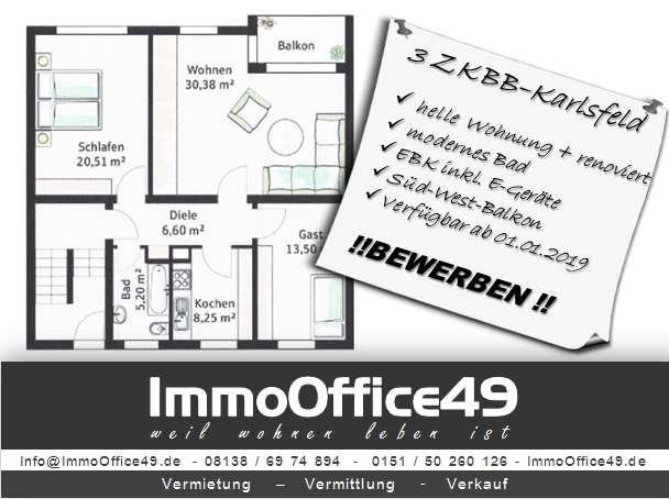 ImmoOffice49 - Großzügige Wohnung in ruhiger Lage in Karlsfeld (Dachau)