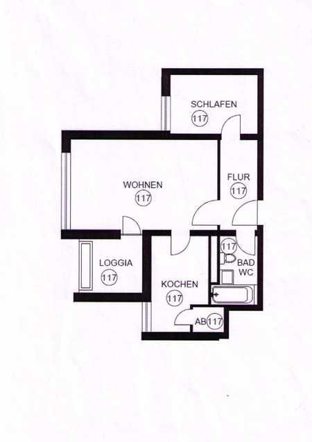 Erstbezug nach Sanierung, 1,5-Zimmer Wohnung mit Balkon in Hadern, München in Hadern (München)
