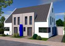 Bau einer Doppelhaushälfte mit großem