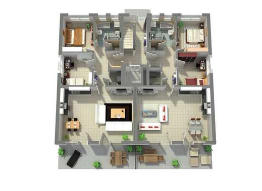 Wohnung im Ergeschoss mit Terrasse