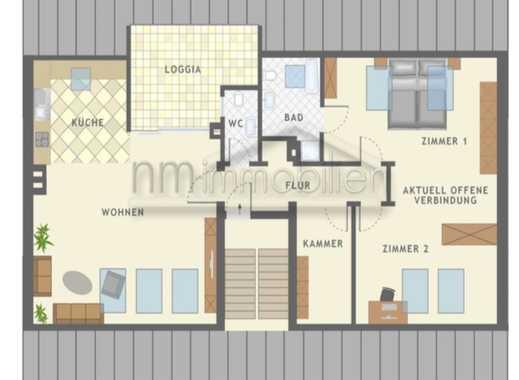 3-Zi. Dachgeschosswohnung (Loggia & PKW Stellplatz) mit Charakter