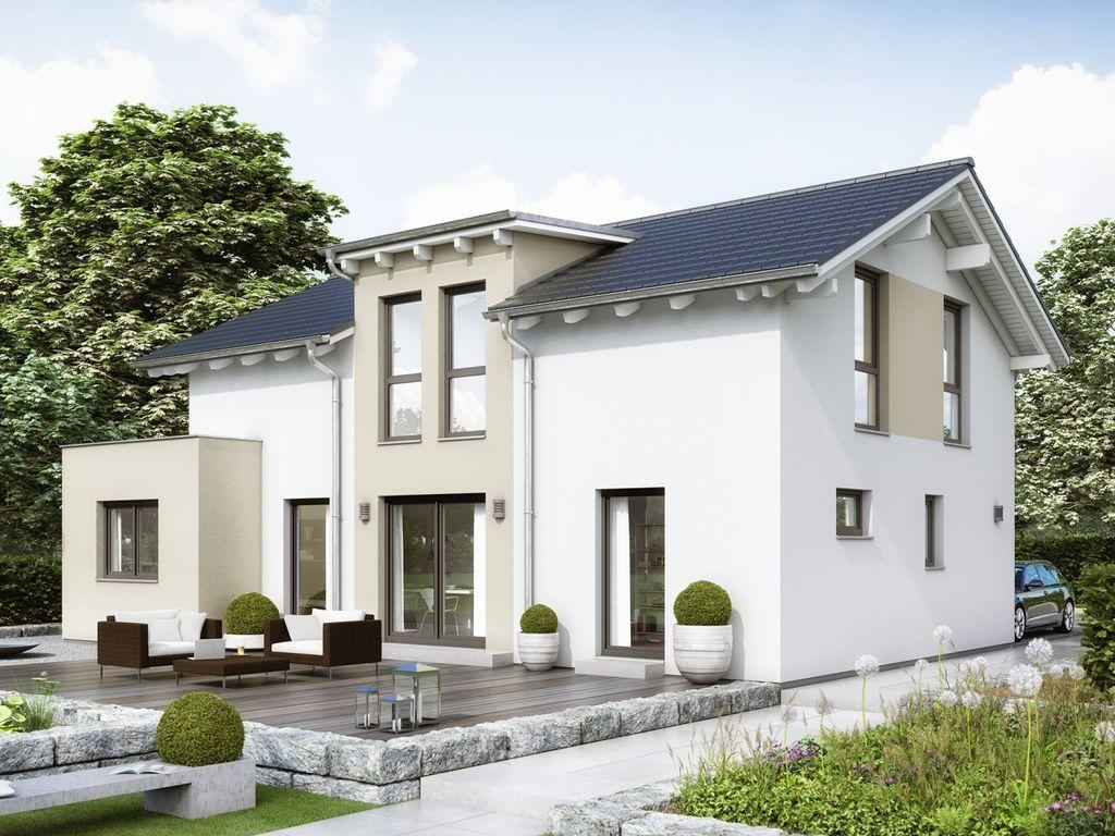 EVOLUTION 148 V7 – Modernes Traumhaus mit Pultdach-Zwerchgiebel und ...