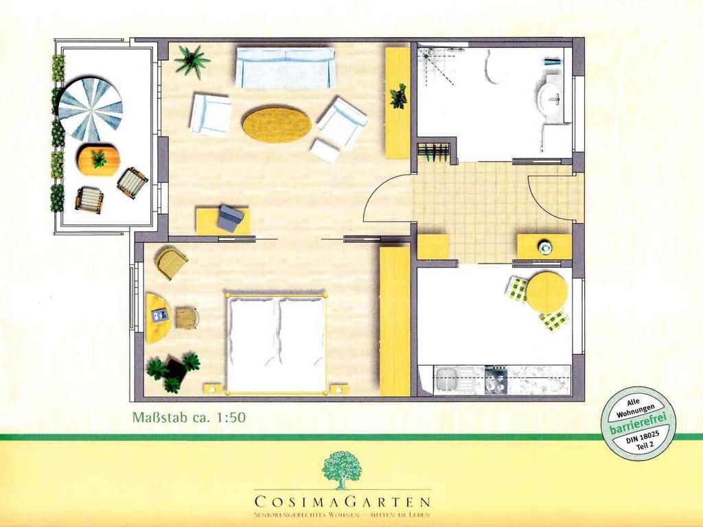 sch ne barrierefreie zwei zimmer wohnung in m nchen bogenhausen. Black Bedroom Furniture Sets. Home Design Ideas