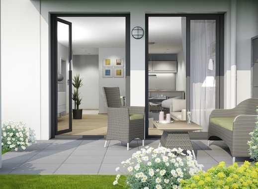 Attraktiv wohnen in sympathischer 2-Zimmer-Wohnung mit großer Terrasse, Gartenanteil und Gäste-WC