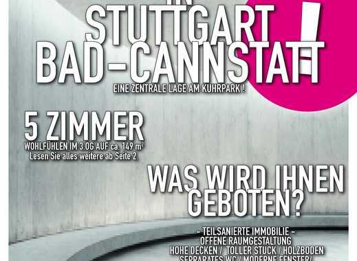 großzügige teilsanierte 5 Zimmer Altbauwohnung in Stuttgart Bad Cannstatt - Nähe Kurpark