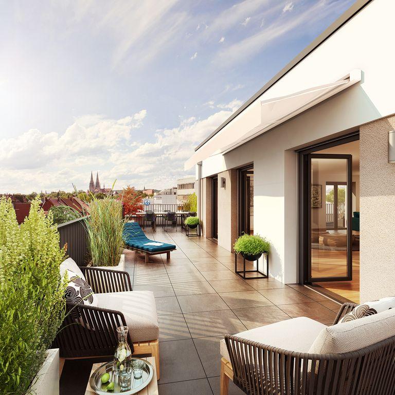 Urban leben am stob usplatz exklusive penthousewohnung mit einzigartiger aussicht auf den dom for Wohnung kaufen regensburg