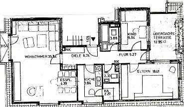 M-SCHWABING, FRIEDRICHSTR., 3-Zi-Wohnung, Dachterrrasse in Schwabing-West (München)