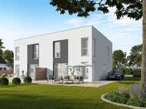 Exklusive Doppelhaushälfte im Bauhaus-Stil nahe