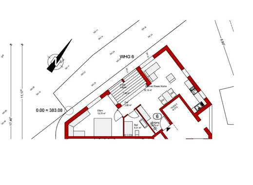 Wohnung Obergeschoss  Nr. 6