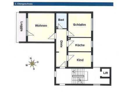 Helle 3-Zimmer-Wohnung mit Loggia in Mühldorf - 82 m² Wfl. in Mühldorf am Inn