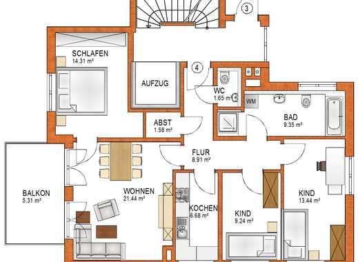 Schöne 4-ZKB Wohnung im 1. OG mit Balkon in Königsbrunn - EH 55 - schlüsselfertig