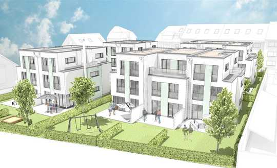 NEU! Moderne projektierte Stadthäuser in Karlsruhe-Grünwinkel nahe Albgrün